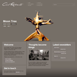 Carl Roberts approached us for his website design